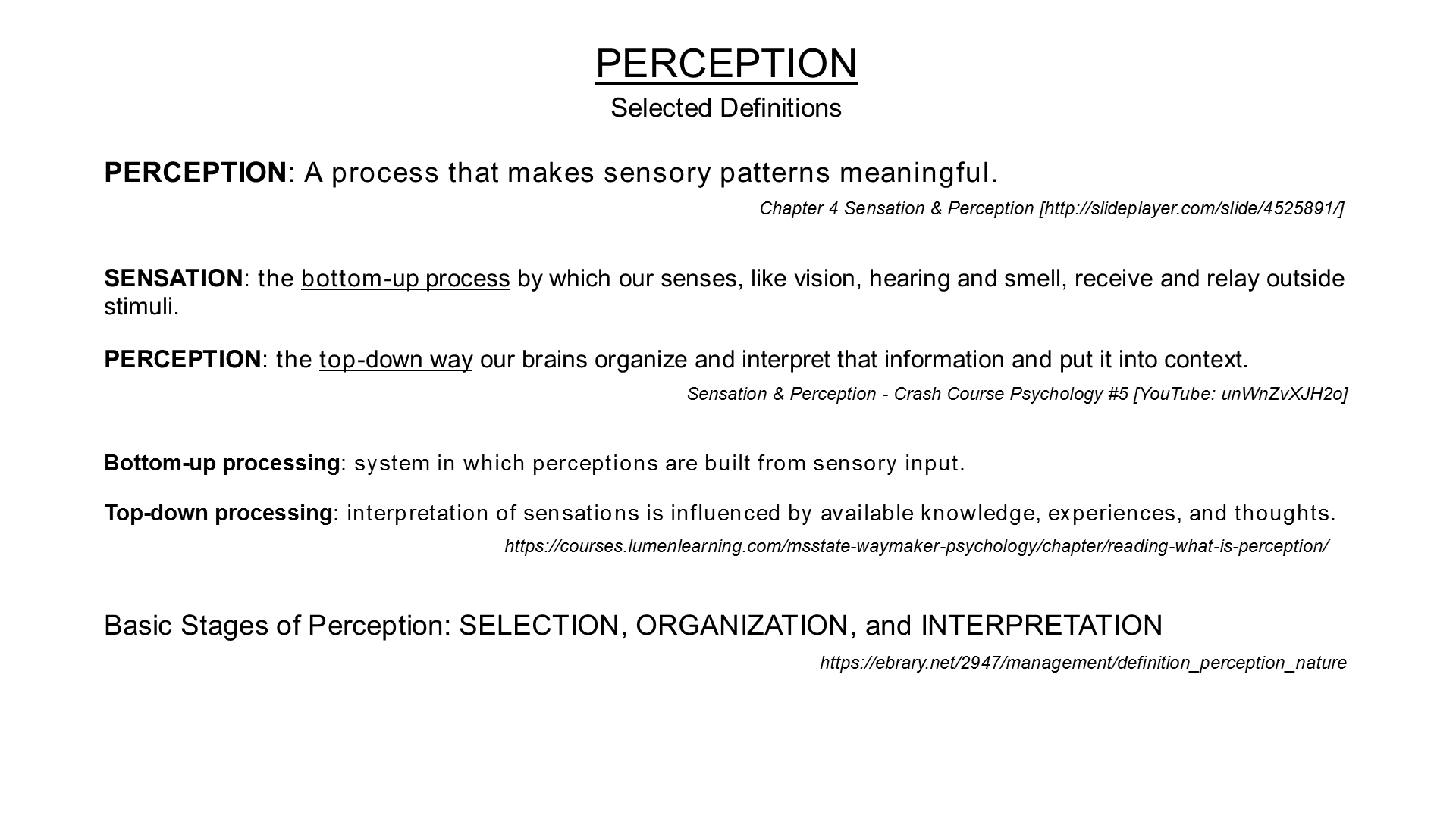 definition of perception in psychology pdf